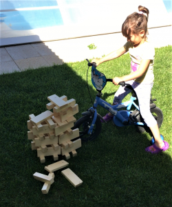 la torre de madera